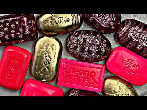 Soap asmr with relaxing and satisfactory sounds