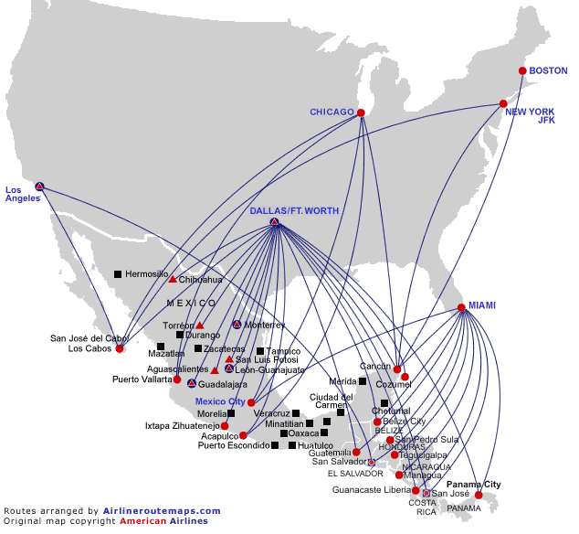 American airlines map world map 07 email thisblogthis publicscrutiny Gallery