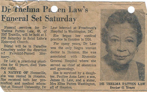 Dr. Thelma Patten Law Obituary