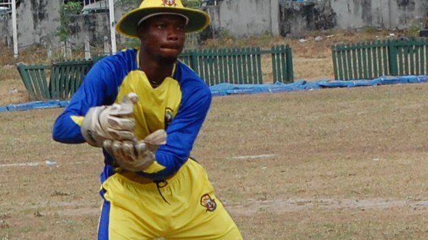 A Ibeju Lekki Cricket Club player in Lagos, Nigeria