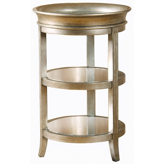 Hand-painted Gold/ Mirrored Tray Table - 14303476 ...