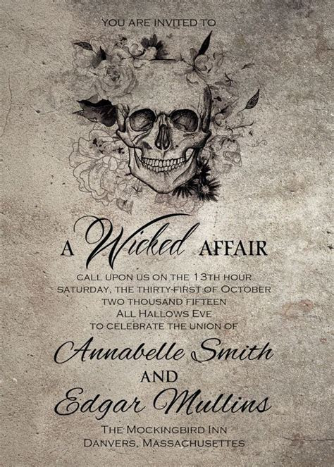 Spooktacular Halloween Wedding Invitations   Weddings