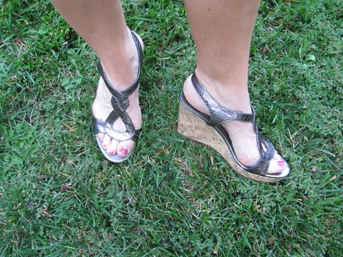 silvercork sandals