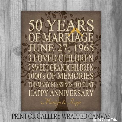50th Anniversary Gift Keepsake, Important Events The