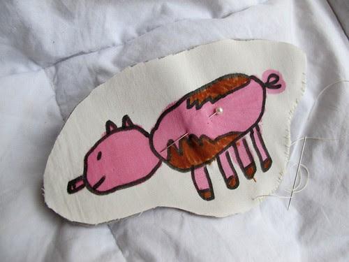 pig stitching