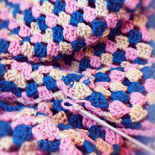 Crochet on a train