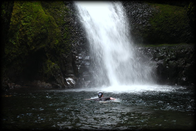 a Cold Plunge at the waterfall at the end of Oneonta Gorge