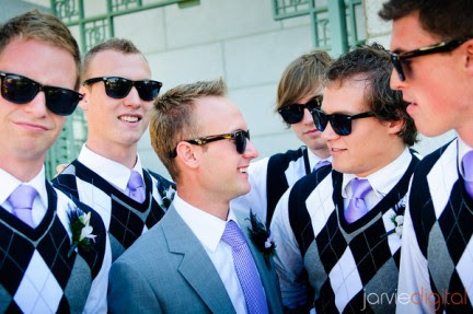 Real Mormon wedding The Handsome GroomsmenAnd the Groom
