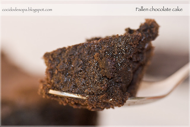 Fallen chocolate cake_5