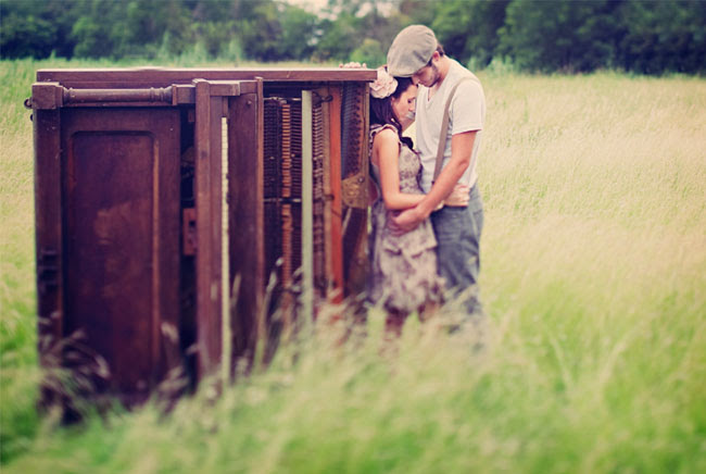 piano in the field engagement photos