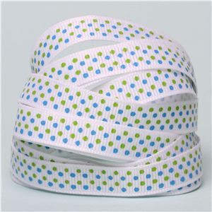Baby Ribbon - Multi Dots Blue