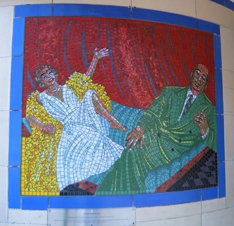 Hitchcock Leytonstone London Underground Mosaics - Hitch & Dietrich