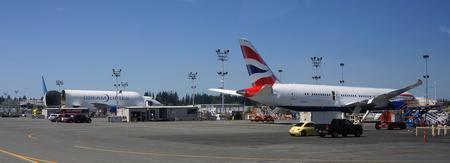 British Airways first 787 out in Everett