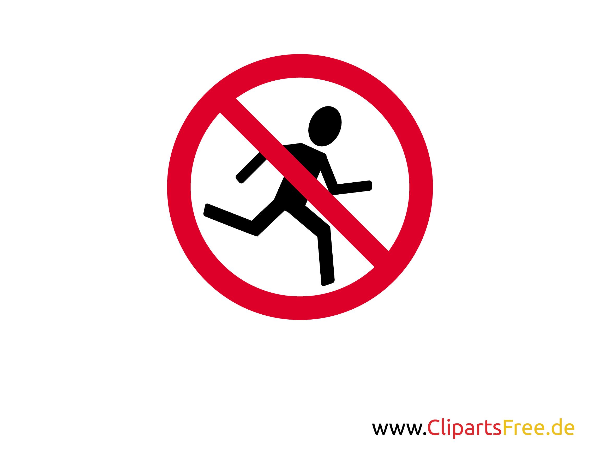 Spass-Verbotsschild Joggen verboten zum Ausdrucken
