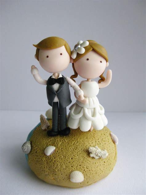 Wedding Clay Cake Topper   Beach Theme (Not Edible) on Luulla