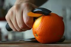 shaving off some orange peel
