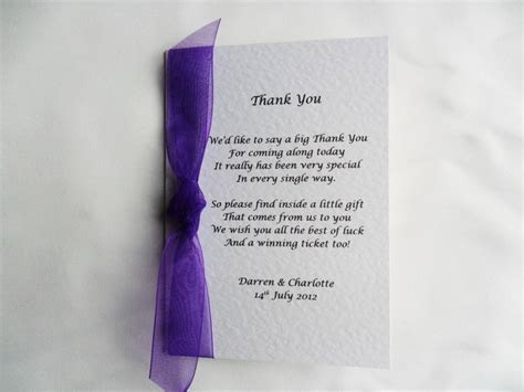 Lottery Wedding Favours   Wedding Lottery Card Favours