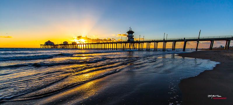2013-10-29 Sunset Over Huntington Beach Pier-9112