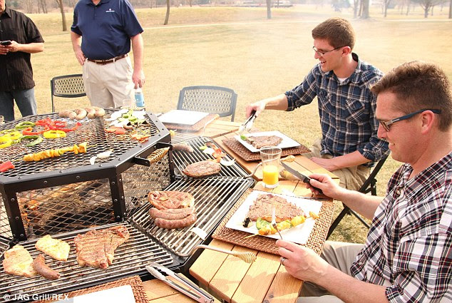 South African influence: The barbecue table was invented by ex-pat Gert Coetzer