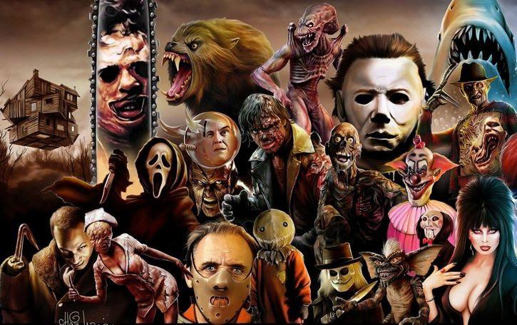 collage personajes de terror en las peliculas