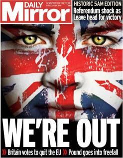 Brexit,   i giornali inglesi in edicola venerdì