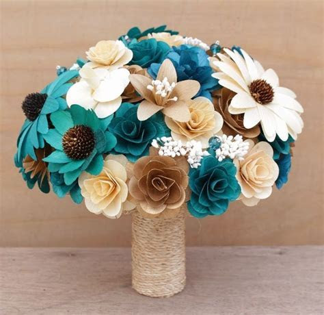 Teal and Copper Wedding: Bouquets, Corsages and