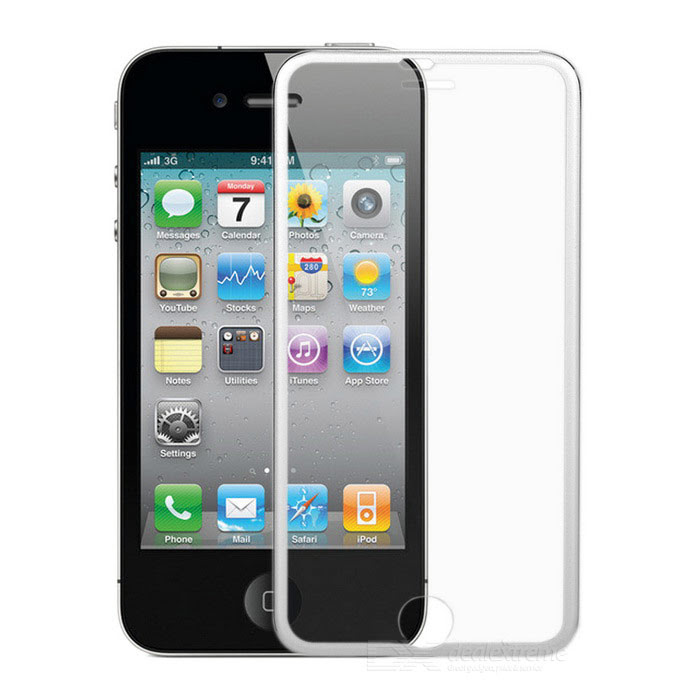 Finesource Tempered Glass Film Frame For Iphone 6 Transparent
