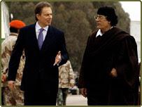 Blair og Gaddafi ræða saman