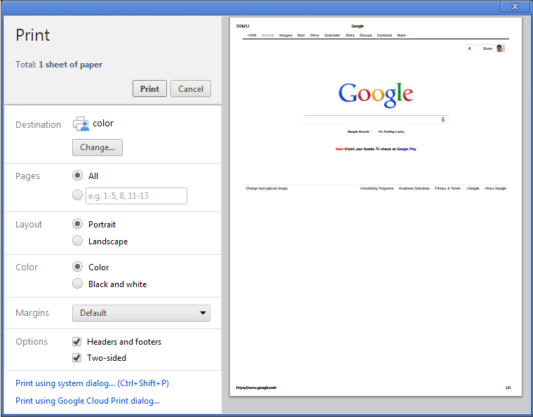 Como imprimir a colores con google chrome? - Google Product Forums