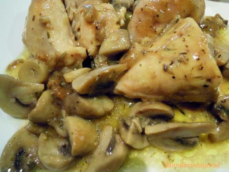 receta pollo champiñones