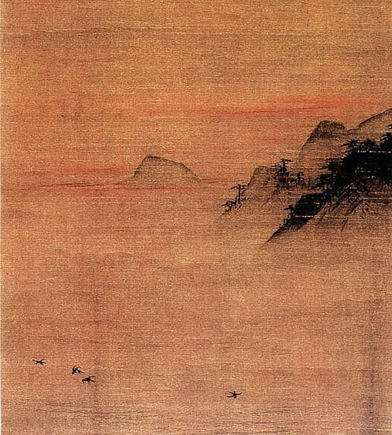 Painting of Ma Yuan, detail (Shanghai Museum)
