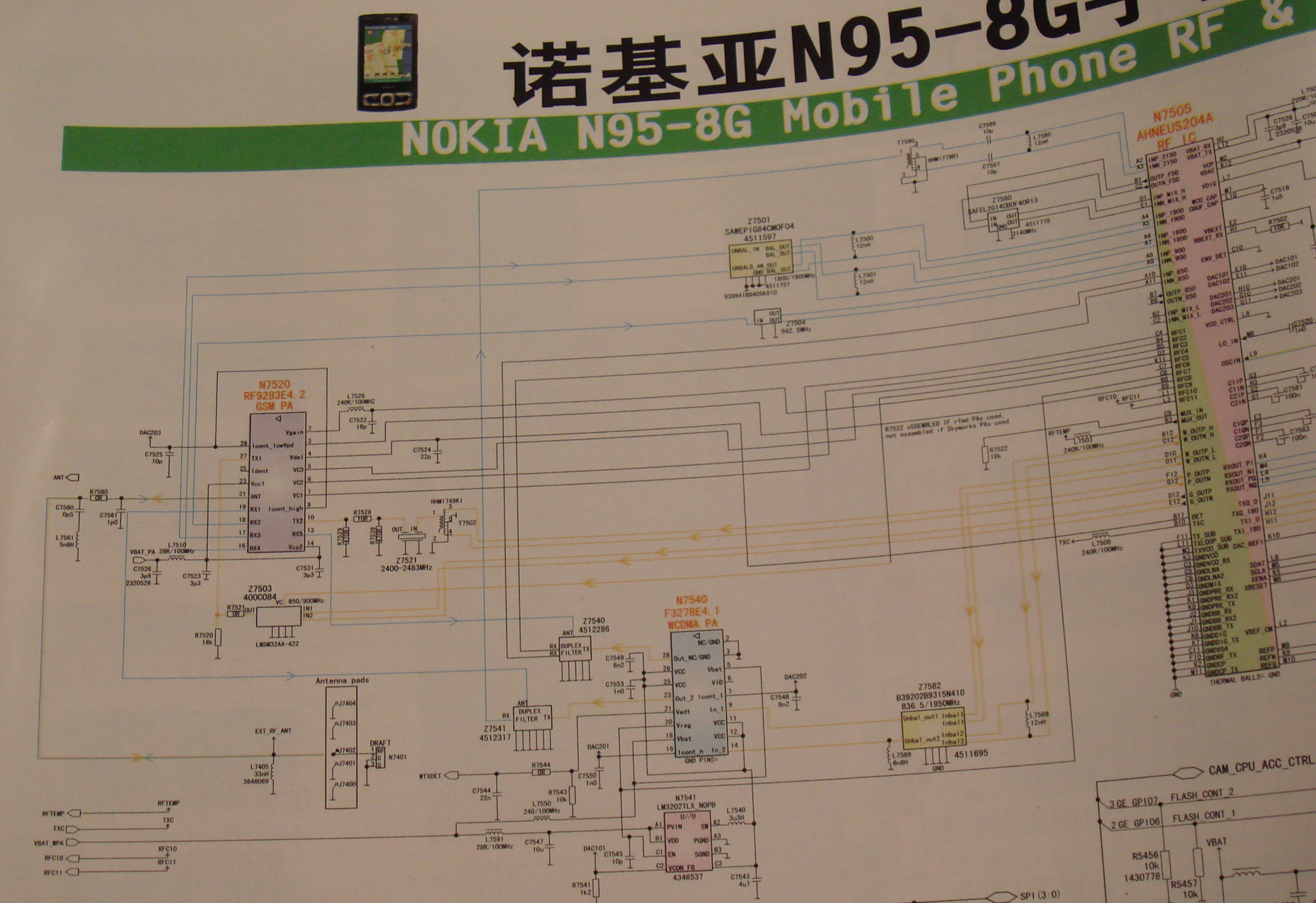 Nokia All Circuit Diagram Book Free - A Detail Of The Schematic For The  Nokia N95s