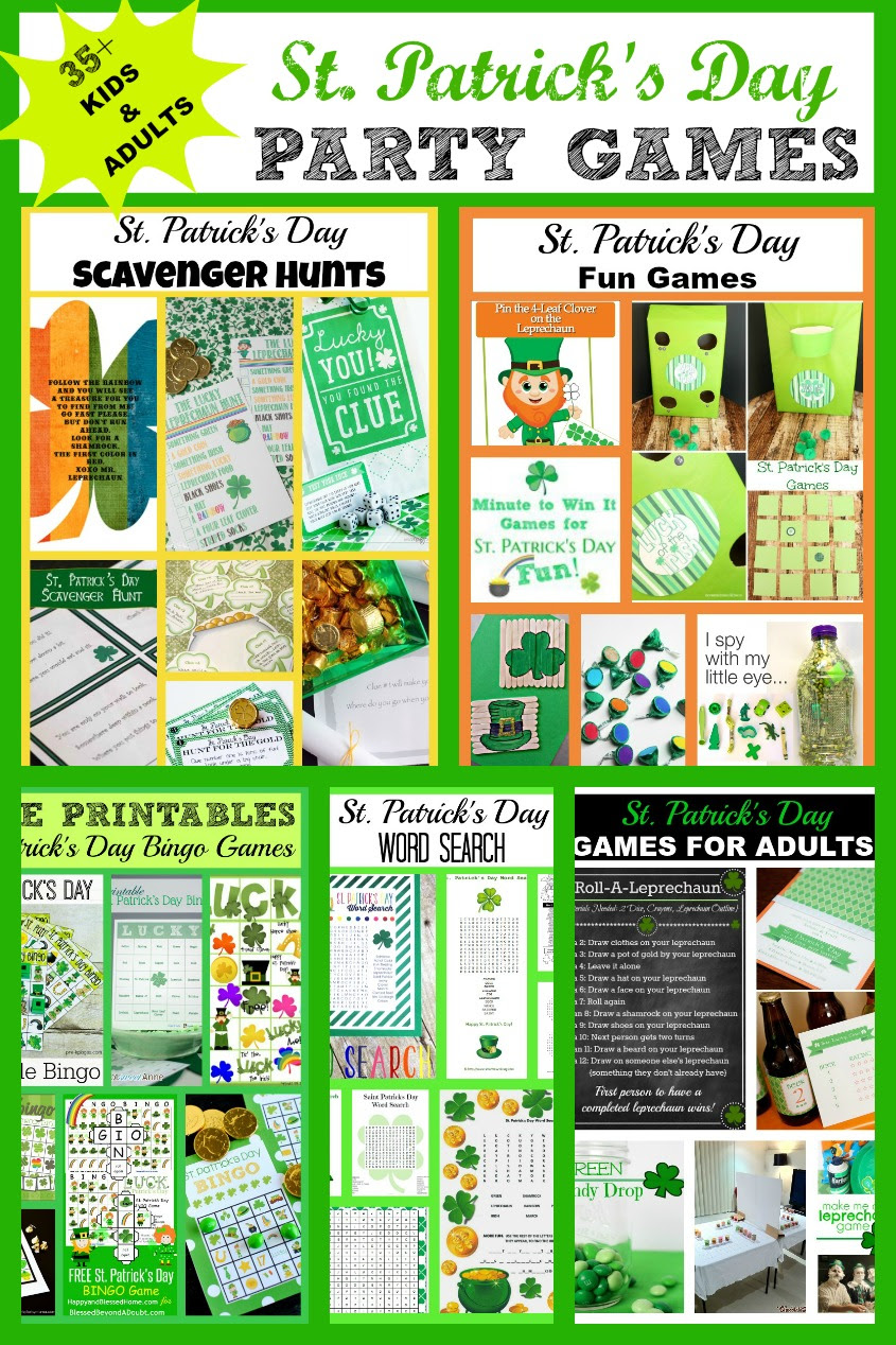 St Patricks Day Party Games Kids And Adults My Pinterventures