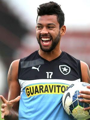 Wallyson treino do Botafogo (Foto: Vitor Silva / SSPress)