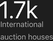 1.7k International auction houses covered