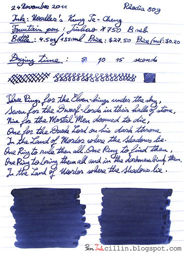 Noodlers Kung Te-Cheng on Rhodia