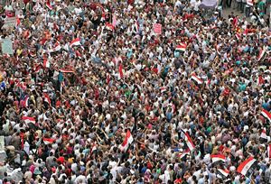 "Egyptian rally in Cairo's Tahrir Square on May 27, 2011. The demonstration was called the ""second revolution"" calling for the removal of military rule. by Pan-African News Wire File Photos"