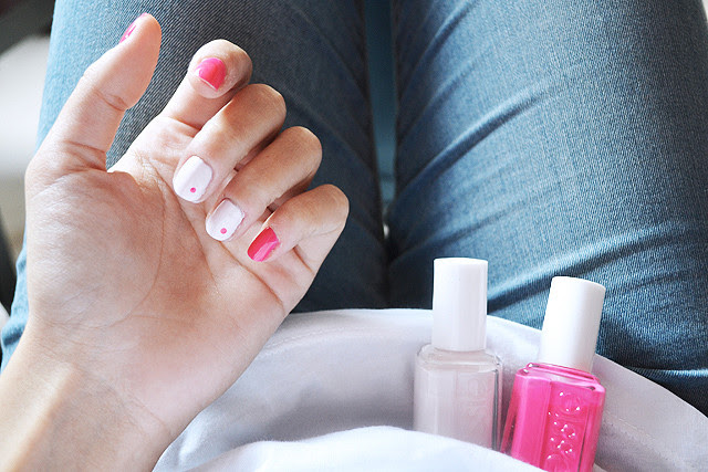 Nails of today, nailart, nail polish, essie, pink nails, bottle service, swatches, easy nail art, dots, barbie nails, fiji, color, fashion blogger, belgium, inspiration