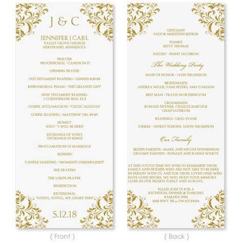 Wedding Program Template   Instant Download   EDIT YOUR