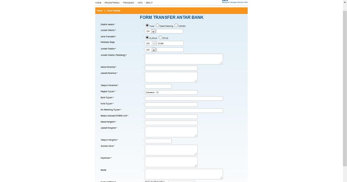 Unit Kerja Transaksi Pada E Form Bri - Info Seputar Kerjaan