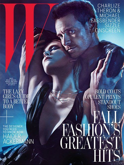 W magazine - August 2012, Charlize Theron - Michael Fassbender
