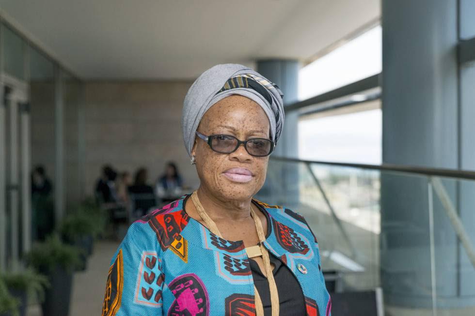 La ministra de Género, Infancia y Protección Social de Liberia, Julia Duncan-Cassell, en Barcelona.