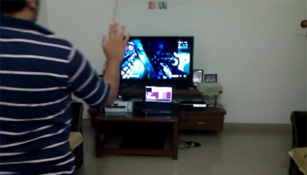 PS3 controlled using Kinect