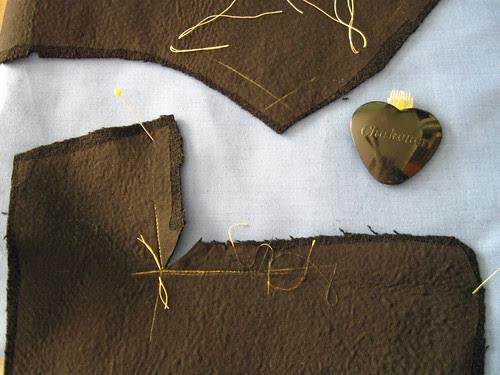 Coat collar and lapel pieces