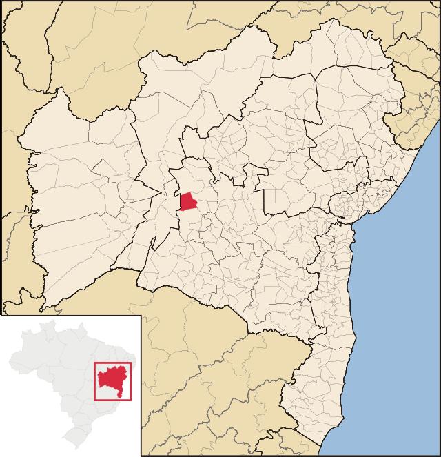 Localização de Boquira