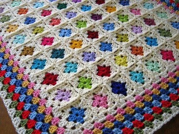 Mini Granny Square Blanket