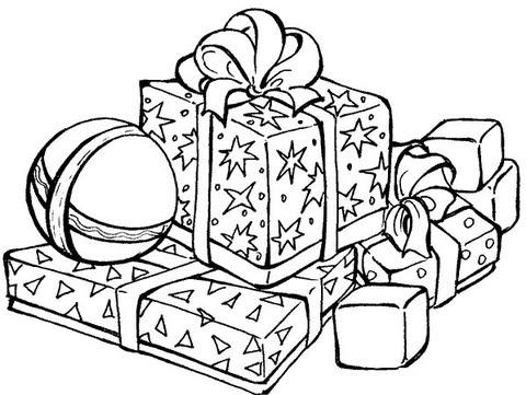 Dibujo De Regalos De Navidad Para Colorear Dibujos Para Colorear