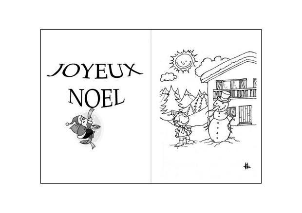 Coloriages Le Bonhomme De Neige Et Le Petit Garçon Frhellokidscom