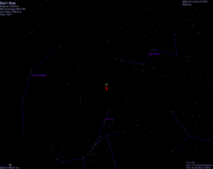 Looking toward Sol from Alpha Centauri in Celestia