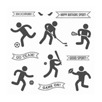 Simply Sports Clear-Mount Stamp Set